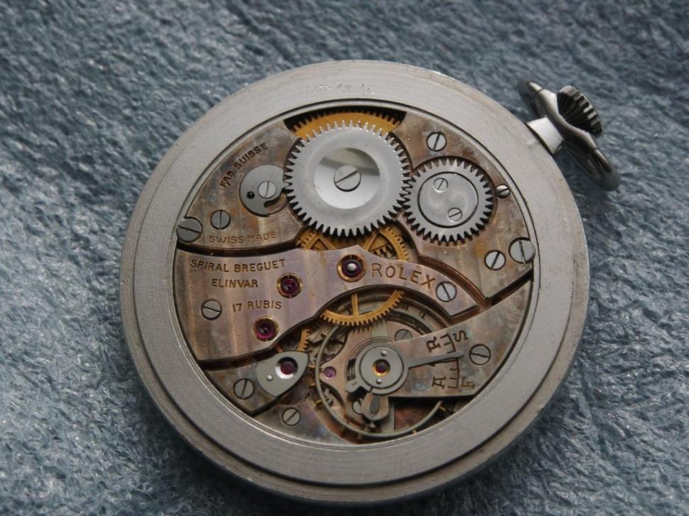 Rolex Precision pocket watch movement from 1936