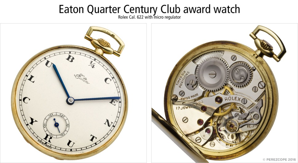 Eaton Quarter Century Club award pocket watch