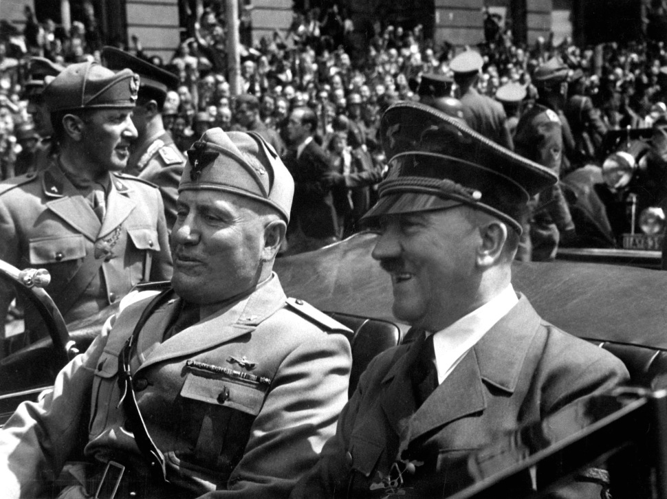 Benito Mussolini and Adolf Hitler in Munich, June 1940
