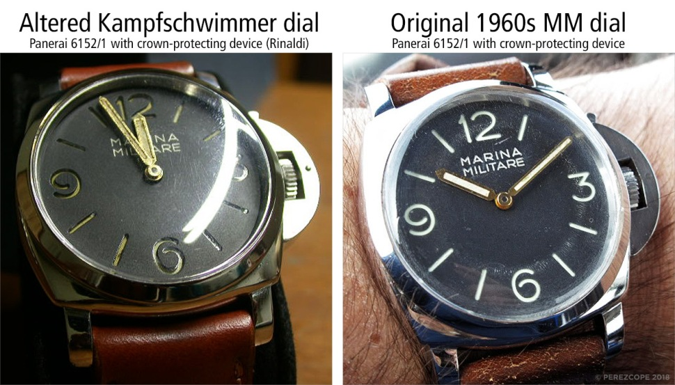 180912-comp-panerai-6152-1-marina-militare-altered-kampfschwimmer-dial-with-fake-rinaldi-engravings-vs-original-1960-marina-militare-dial