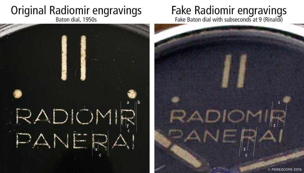 190805-comp-panerai-baton-dial-vs-fake-rinaldi-baton-dial-radiomir-engravings